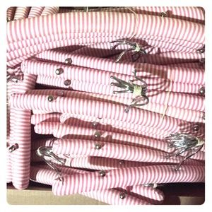 Victoria Secret padded pink&white closet hangers!